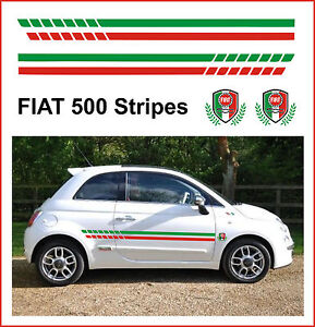 FIAT 500 RACING SIDE STRIPES & CRESTS - FIT THE BEST!