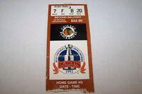 1992 NHL hockey playoff ticket BLACKHAWKS game G - 2ndB