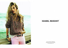 PUBLICITE ADVERTISING 2011  ISABEL MARANT  haute couture ( 2 pages)