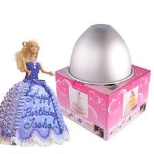 Barbie Doll Girl 's Skirt Shape Wedding Cake Mold Aluminium Metal Moldes Pan DIY