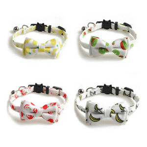 Dog Cat Pet Fruit Printed Bow Tie Bowknot Adjustable Puppy Scarf Necklace Collar