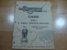 Case TW9 2 Wheel Tractor Spreader Parts Manual Catalog 1956 B726