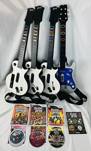 Nintendo Wii Guitar Hero/Rock Band Bundle - 4 Guitars - 3 Games