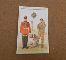 Military Uniforms Postcard Worcestershire & Sherwood Foresters Reg unposted