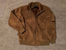 Sean John Mens XL Suede Faux Fur Collar Vtg Brown Coat Jacket - ExCond!