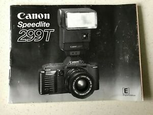 Original Canon Speedlite 299T Instruction Manual