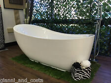 Bathroom Acrylic Free Standing 18 Jet Spa Bath Tub 1800 x 890 x 760 Model Helio