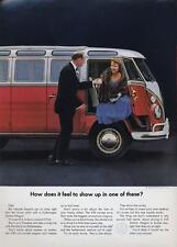 "1964 VW Volkswagen Bus PRINT AD  ""How does it feel to show up in one of these?"""