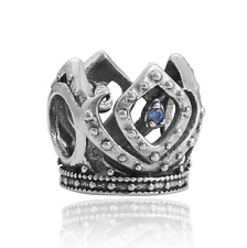 NEW Crown Ring Silver Charm Beads Fit sterling Bracelet Pendant Necklace B#338