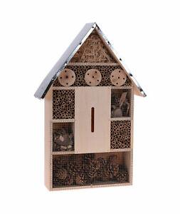 Insektenhotel XL 57 cm zum hängen - Metall Dach - Insektenhaus Nistkasten Deko