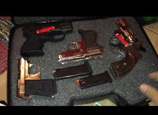 Gun Guard 4 Pistol Scoped Hard Case Storage Lock Box Firearm Weapon Handgun NEW