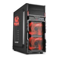 Sharkoon VG5-W red, Gehäuse (schwarz/rot)