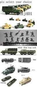 1/72 US M3 soldiers OPEL KFZ 305 SD.KFZ.7 half track HUMMER M35 DUKW BTR-80