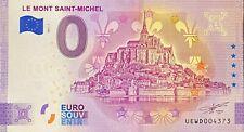 BILLET 0  EURO LE MONT SAINT MICHEL FRANCE ANNIVERSARY   2021  NUMERO DIVERS