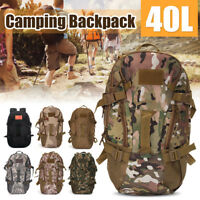 40L Military Tactical Molle Outdoor Mountaineer Backpack Camping Hiking US