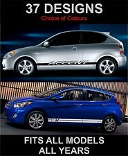 hyundai accent side stripes decals graphics side stripe  both sides