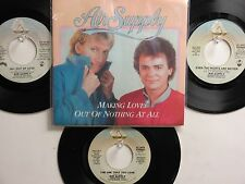 LOT OF 4 'AIR SUPPLY ' HIT 45's+1PS[Making Love Out Of Nothing At All] THE 80's!