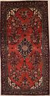 One-of-a-Kind Vintage Red Wool Floral Tribal 5X10 Handmade Oriental Rug Carpet