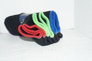 Polo Ralph Lauren 3 Pack Boys Black Ankle No Show Socks Shoe Size 4-10 Sox 9-11