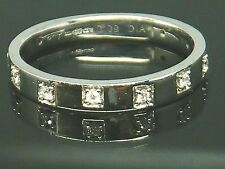 9ct Gold 9k Gold Diamond 3/4 eternity ring size L Hallmarked , Boxed