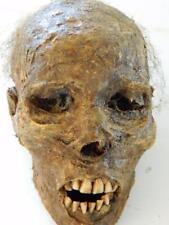 "HALLOWEEN HORROR MOVIE PROP - Realistic Resin Human Corpse Head ""Mummified Mark"""
