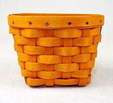 Longaberger Key Basket, 5x3, Hand Woven, Hangs on Wall ~ Signed 2001 ~ #LB-04