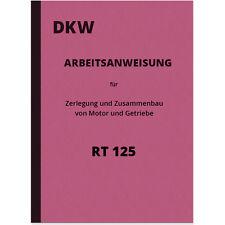 DKW RT 125 ISTRUZIONI RIPARAZIONE MOTORE INGRANAGGI manuale istruzioni di montaggio rt125