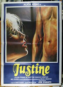 manifesto 2F film JUSTINE Alice Arno Lina Romay Jess Franco Joe D'Amato 1979