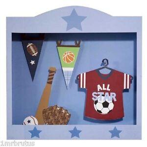 Lambs & Ivy Wee Rascals Sports Shadow Box Wall Decor Art Boy's Room Baby Nursery