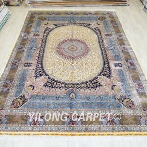 10x14ft Huge Handmade Silk Carpet Living Room Oversized Home Interior Rug TJ342A