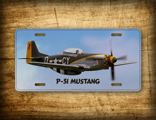 P-51 Mustang Warbird License Plate Pilot Aviation Fighter Airplane Auto Tag Sign