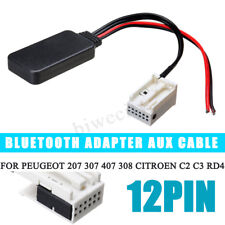 12Pin Bluetooth Adapter Aux Cable For Peugeot 207 307 407 308 Citroen C2 C3 RD4