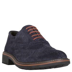 Igi&Co 86810/00 Scamosc. Brush Blu Scarpe Stringate Basse Oxford Uomo Sneakers