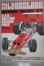 British GP poster at Silverstone, Graham Hill