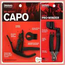 D'Addario Planet Waves NS Artist Capo with Guitar  Pro String Winder