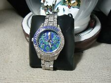 GENEVA BRAND PLATINUM STYLE LADIES SILVER TONE PEACOCK WATCH DW1  MARKDOWN