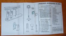 1960's Corgi Kits 609 Filling Station Accessories COPY instructions only
