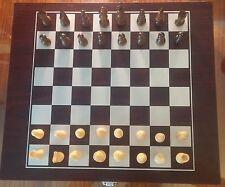 Jeu d'échecs en bois + Jeu de dames - Grosse boîte de rangement - Wood Chess -