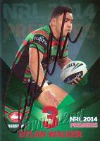 ✺Signed✺ 2014 SOUTH SYDNEY RABBITOHS NRL Premiers Card DYLAN WALKER