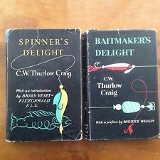 SPINNERS + BAITMAKERS DELIGHT by CW THURLOW CRAIG 1st H/B Pike Lure Fishing Book