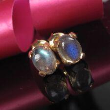 Labradorit  Silber 925 Ohrringe Stecker Damen Handarbeit Gold 999 Designer