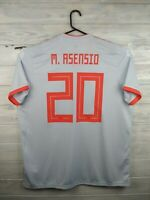 Asensio Spain soccer jersey XL 2019 away shirt BR2697 football Adidas