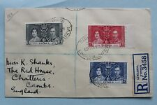 1937 CYPRUS CORONATION FIRST DAY COVER - REGISTERED FROM LIMASSOL