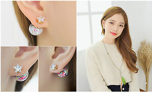 Korea Fashion Double-sided Titanium Stud Earrings