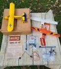 Vintage Cox Thimble-Drome Super Cub 105 Gas Engine Airplane w/Box And Parts
