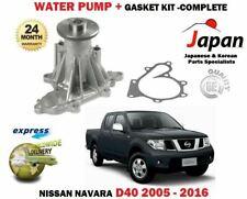 FOR NISSAN NAVARA D40 2.5TD PICKUP 2005-2016 NEW WATER PUMP KIT + GASKET SET