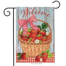 "Strawberries Summer Garden Flag Fruit 12.5"" x 18"" Briarwood Lane"