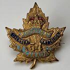 WW1 Canadian 54th Kootenay Battalion CEF Enamel Sweetheart Brooch Badge