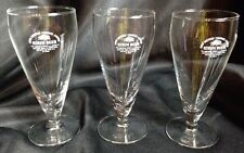 Set of 3 Japan Import Kirin Brewery Co. Limited Japanese Footed Beer Glass 8 oz