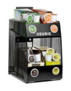 """Keurig 4-Sleeve K-Cup Pod Metal Mesh Storage Rack, 12 1/8"""" x 9 7/16"""" x 14 3/16"""""""